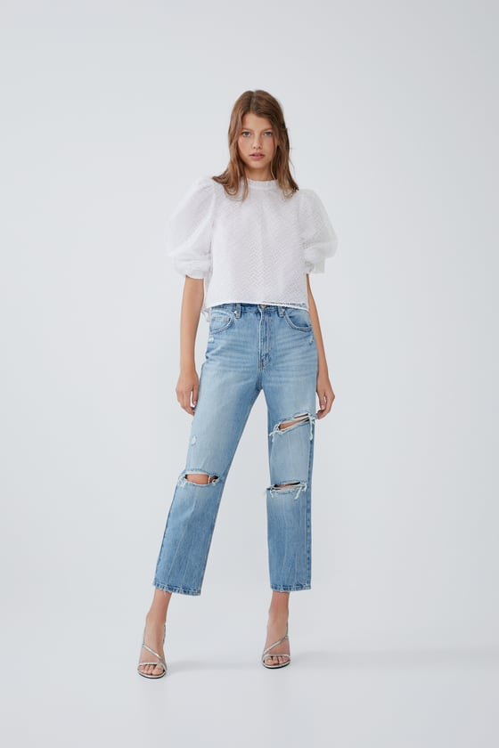 JEAN SIZE HIGH FUSELÉ AND RIP